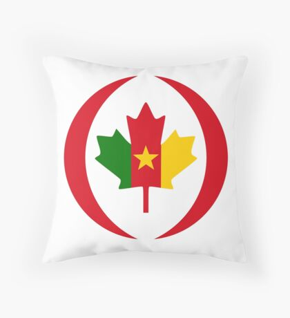 Cameroon Canadian Multinational Patriot Flag Series Throw Pillow