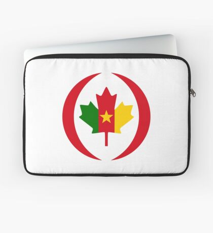 Cameroon Canadian Multinational Patriot Flag Series Laptop Sleeve