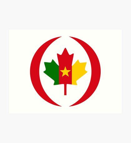 Cameroon Canadian Multinational Patriot Flag Series Art Print