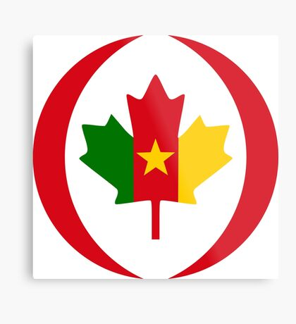 Cameroon Canadian Multinational Patriot Flag Series Metal Print