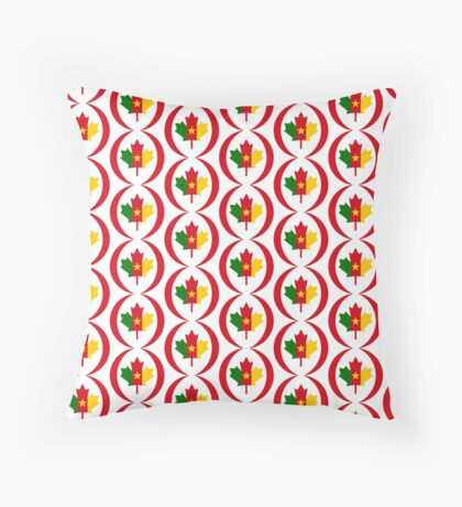 Cameroon Canadian Multinational Patriot Flag Series Floor Pillow