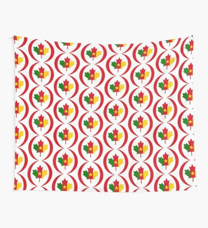 Cameroon Canadian Multinational Patriot Flag Series Wall Tapestry