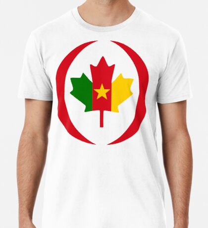 Cameroon Canadian Multinational Patriot Flag Series Premium T-Shirt