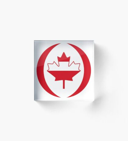Austrian Canadian Multinational Patriot Flag Series Acrylic Block