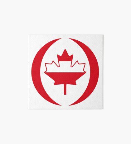 Austrian Canadian Multinational Patriot Flag Series Art Board Print