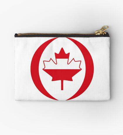 Austrian Canadian Multinational Patriot Flag Series Zipper Pouch