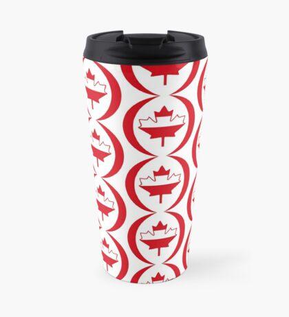 Austrian Canadian Multinational Patriot Flag Series Travel Mug