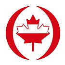 Austrian Canadian Multinational Patriot Flag Series by Carbon-Fibre Media
