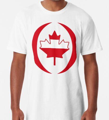 Austrian Canadian Multinational Patriot Flag Series Long T-Shirt