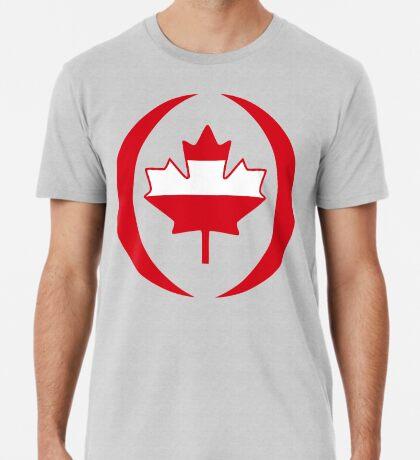 Austrian Canadian Multinational Patriot Flag Series Premium T-Shirt