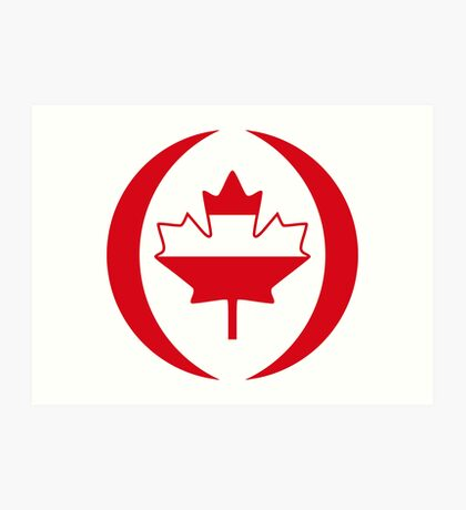 Austrian Canadian Multinational Patriot Flag Series Art Print