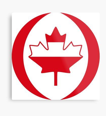 Austrian Canadian Multinational Patriot Flag Series Metal Print