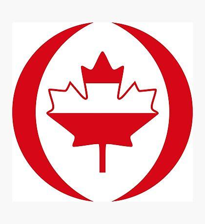 Austrian Canadian Multinational Patriot Flag Series Photographic Print