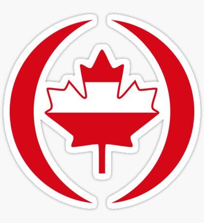 Austrian Canadian Multinational Patriot Flag Series Sticker