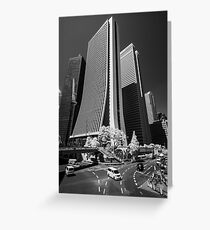 Downtown Tokyo Skyscrapers in Infrared Greeting Card