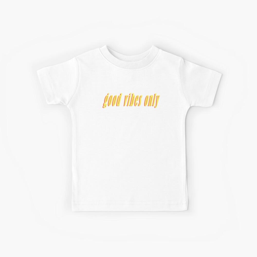 Nur gute Schwingungen Kinder T-Shirt
