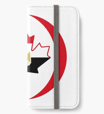 Egyptian Canadian Multinational Patriot Flag Series iPhone Wallet