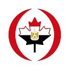 Egyptian Canadian Multinational Patriot Flag Series by Carbon-Fibre Media