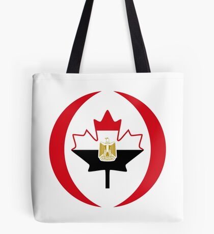 Egyptian Canadian Multinational Patriot Flag Series Tote Bag