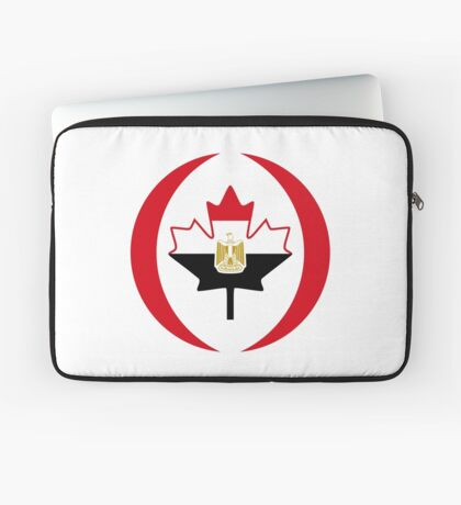 Egyptian Canadian Multinational Patriot Flag Series Laptop Sleeve