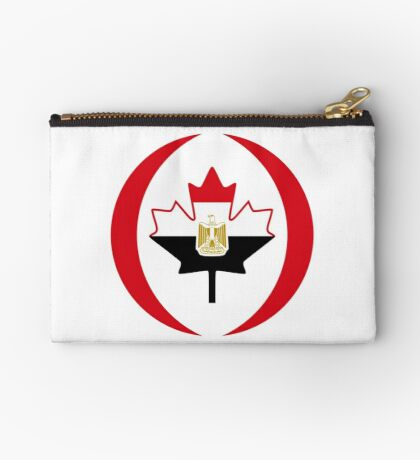 Egyptian Canadian Multinational Patriot Flag Series Zipper Pouch