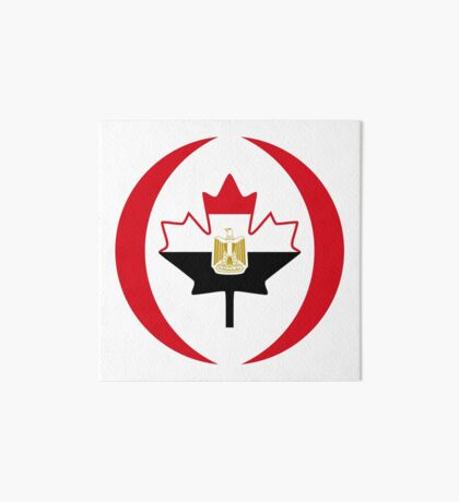 Egyptian Canadian Multinational Patriot Flag Series Art Board Print