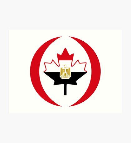 Egyptian Canadian Multinational Patriot Flag Series Art Print