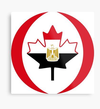 Egyptian Canadian Multinational Patriot Flag Series Metal Print