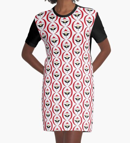 Egyptian Canadian Multinational Patriot Flag Series Graphic T-Shirt Dress