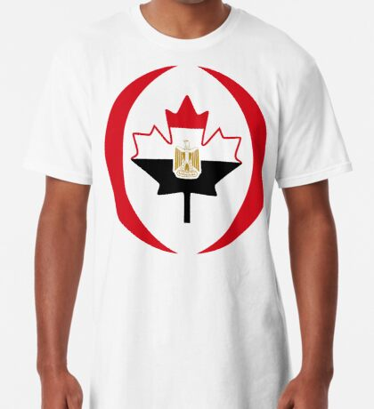 Egyptian Canadian Multinational Patriot Flag Series Long T-Shirt