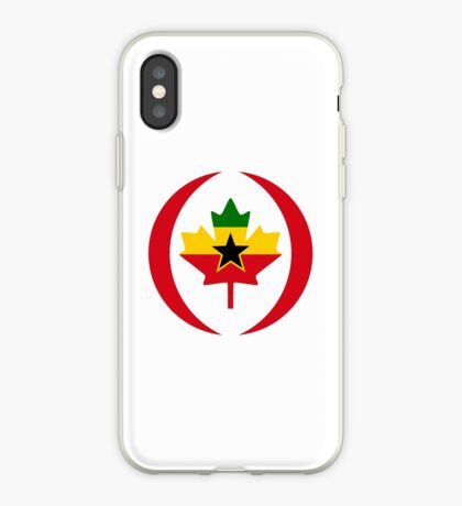 Ghanaian Canadian Multinational Patriot Flag Series iPhone Case