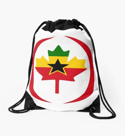 Ghanaian Canadian Multinational Patriot Flag Series Drawstring Bag