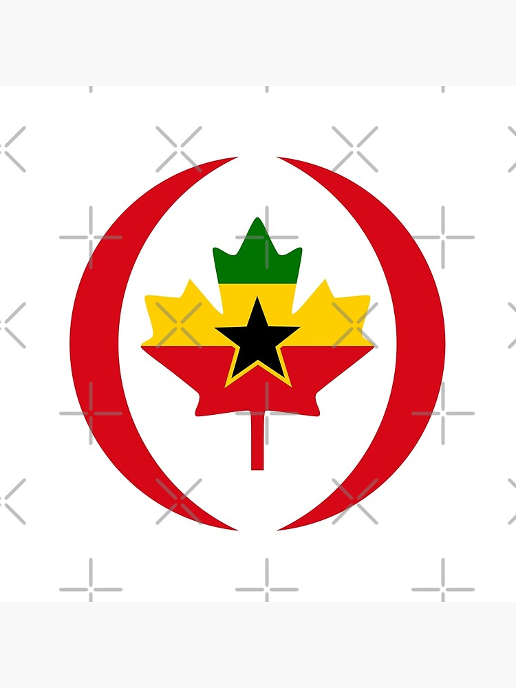 Ghanaian Canadian Multinational Patriot Flag Series by carbonfibreme