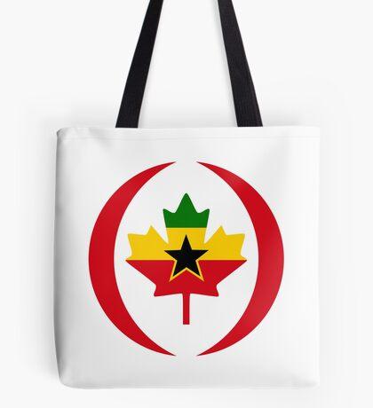 Ghanaian Canadian Multinational Patriot Flag Series Tote Bag