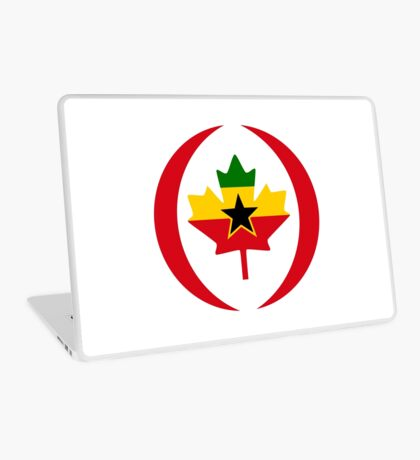 Ghanaian Canadian Multinational Patriot Flag Series Laptop Skin