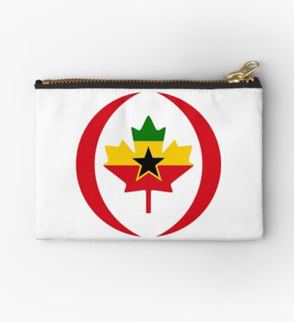 Ghanaian Canadian Multinational Patriot Flag Series Zipper Pouch