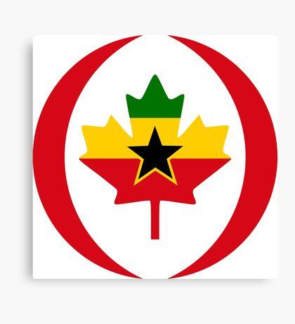 Ghanaian Canadian Multinational Patriot Flag Series Canvas Print