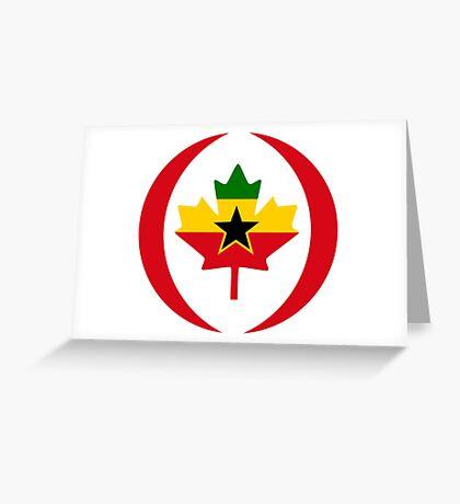 Ghanaian Canadian Multinational Patriot Flag Series Greeting Card