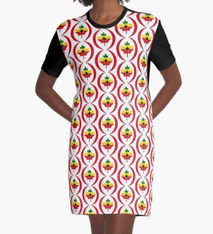 Ghanaian Canadian Multinational Patriot Flag Series Graphic T-Shirt Dress