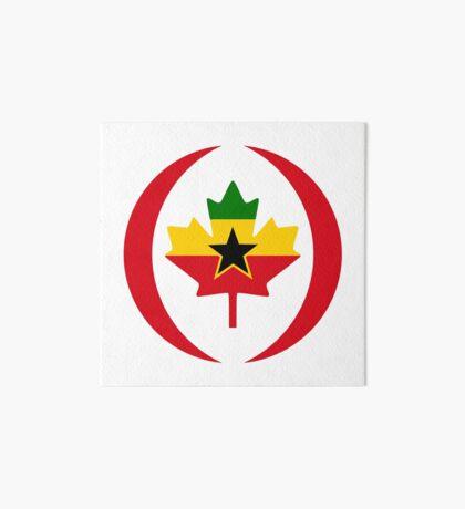 Ghanaian Canadian Multinational Patriot Flag Series Art Board Print