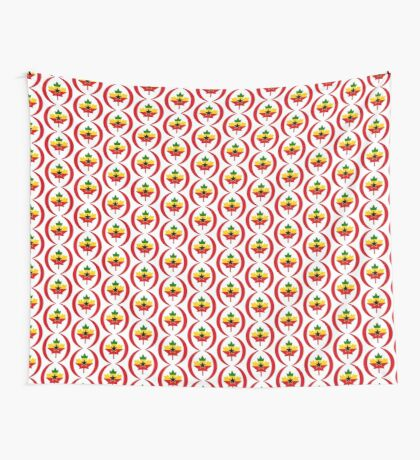 Ghanaian Canadian Multinational Patriot Flag Series Wall Tapestry