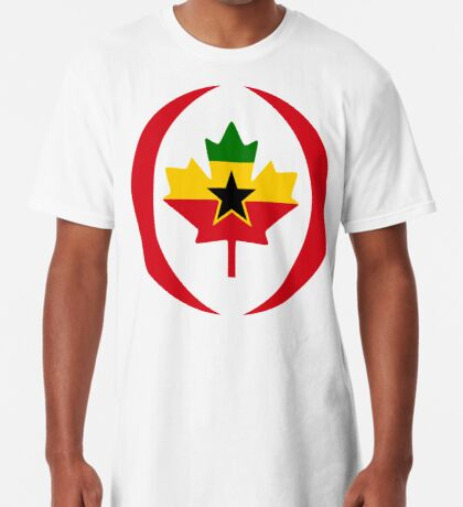 Ghanaian Canadian Multinational Patriot Flag Series Long T-Shirt