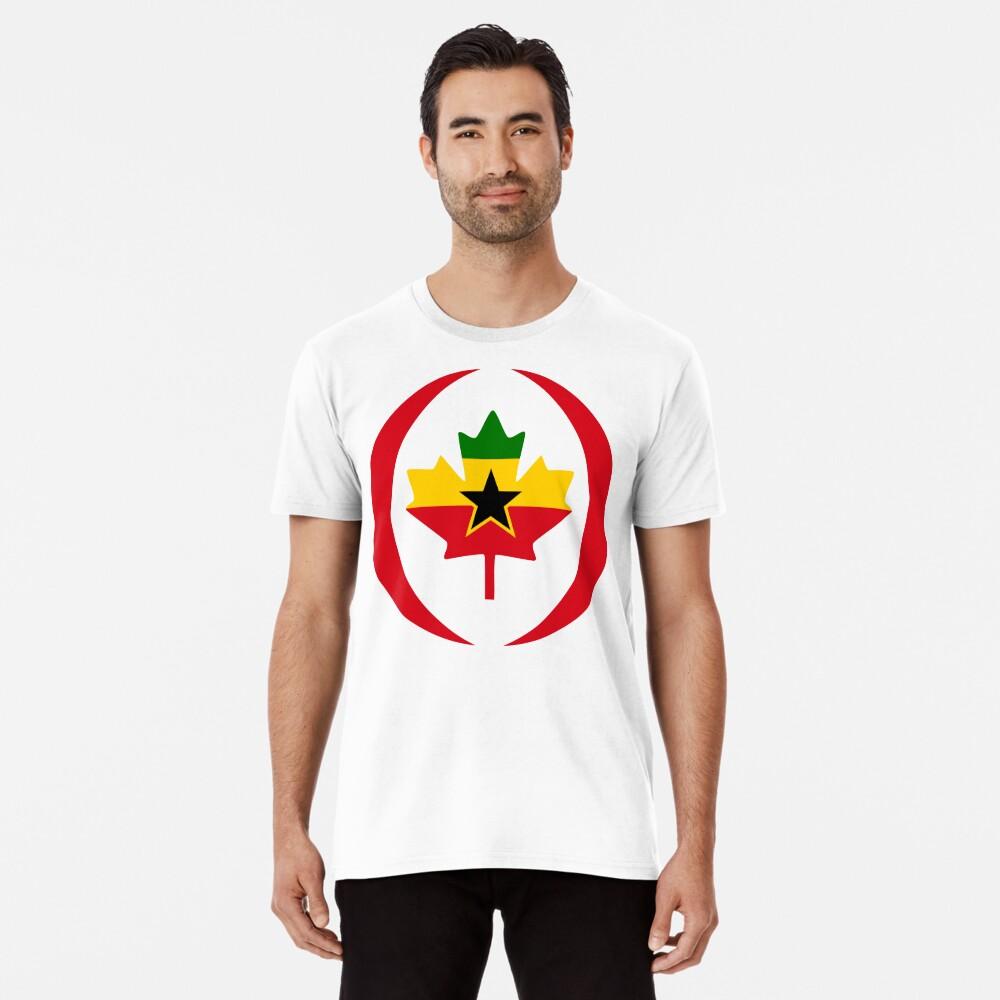 Ghanaian Canadian Multinational Patriot Flag Series Premium T-Shirt