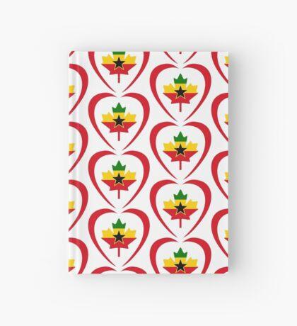 Ghanaian Canadian Multinational Patriot Flag Series (Heart) Hardcover Journal