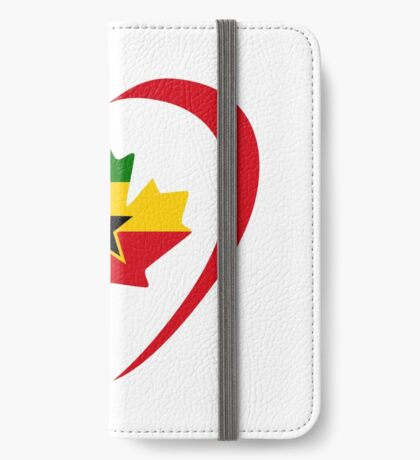 Ghanaian Canadian Multinational Patriot Flag Series (Heart) iPhone Wallet