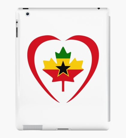 Ghanaian Canadian Multinational Patriot Flag Series (Heart) iPad Case/Skin