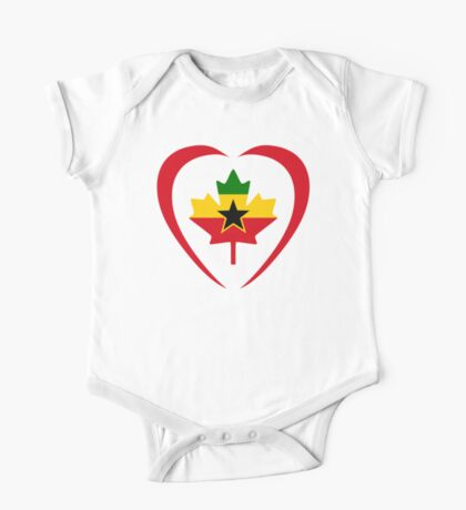 Ghanaian Canadian Multinational Patriot Flag Series (Heart) Kids Clothes