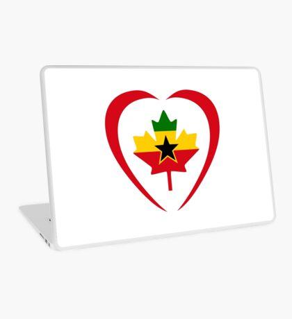 Ghanaian Canadian Multinational Patriot Flag Series (Heart) Laptop Skin