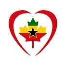 Ghanaian Canadian Multinational Patriot Flag Series (Heart) by Carbon-Fibre Media