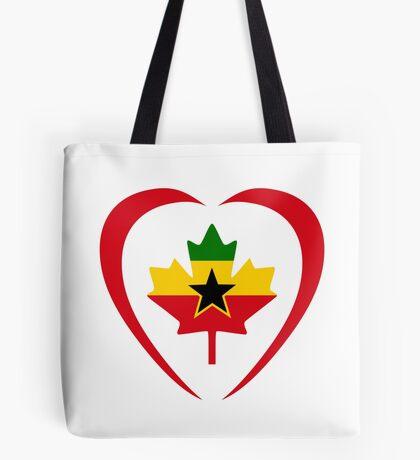 Ghanaian Canadian Multinational Patriot Flag Series (Heart) Tote Bag